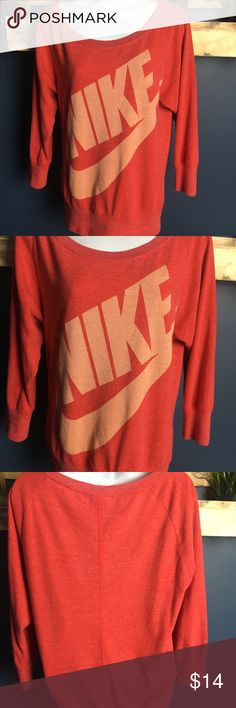 """Nike Sportswear Women's Pink  Logo Shirt Show the world you are an icon. Bust is 18""""laying flat Length is 24"""" laying flat Sleeve is 21"""" laying flat Nike Tops Tees - Long Sleeve"""