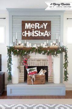 A Very Merry mantel for the modern farmhouse