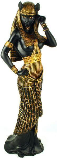 """Bast statue Black Cat Statue Egyptian  Goddess Bastet.Bastet Feminine Divine 11"""""""