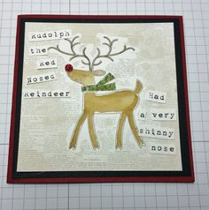 Beth's Paper Cuts Rudolph The Red, Christmas Projects, Paper Cutting, Reindeer, Moose Art, Card Making, Paper Crafts, Scrapbook, Watercolor