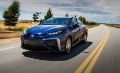 View 2016 Toyota Mirai Fuel-Cell Sedan Photos from Car and Driver. Find high-resolution car images in our photo-gallery archive. Toyota, Car Images, Car Pictures, Alternative Energiequellen, Mercedes Benz, Fuel Cell Cars, Honda, Hydrogen Fuel, Bentley Mulsanne