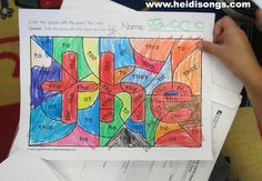 Brand New: Hidden Sight Word Coloring Worksheets! (Freebie alert!) | Heidi Songs