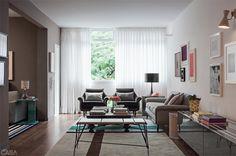 Apartamento grande em São Paulo tem tons de aconchego - Casa