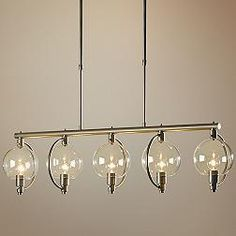 Hubbardton Forge Pluto Clear Glass 5-Light Pendant