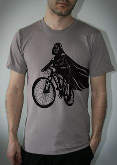 Because everyone needs a shirt with Darth Vader riding a bike on it.