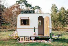 Wild Stories creates custom-designed photo booths that enhance the aesthetic of an event, while also creating the opportunity to remember your night. Small Caravans, Paris Bordeaux, Monster Truck Party, Monster Trucks, Photos Booth, Saint Ouen, Wedding Props, Decor Wedding, Vintage Travel Trailers