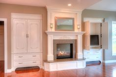 fireplace renovation before and after - Google Search