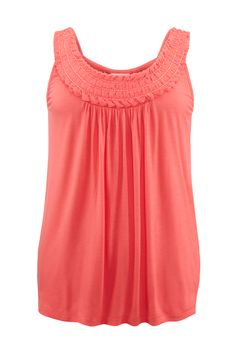 These are so pretty and delicate and come int he prettiest colors.  Wear alone or with jean jacket and white shorts.