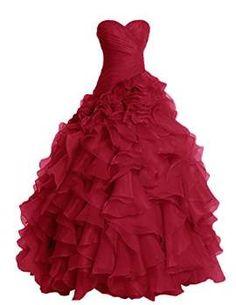 Dresstells® Long Prom Dress Sweetheart Wedding Bridal Gown Organza Ball Gown Black Size 2