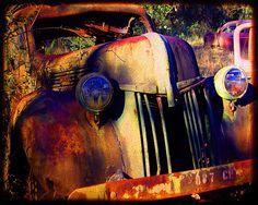 Old Henry - Rusty Car - Fine Art Photograph by Kelly Warren