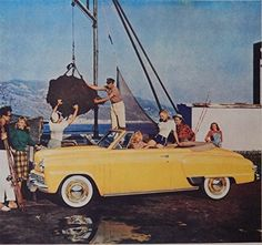1948 Studebaker  40 s Print Ad  full Page Color Illustration  beautiful Car  by Dock   Magazine Art