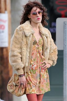 Rayon in the Dallas Buyers Club.  In developing Rayon's look costume designers Kurt Swanson and Bart Mueller used a lot of muses from the 1960s up into the 1980s. Jane Forth, Twiggy, Brigitte Bardot, and Pat Benatar.  I just love the wardrobe pieces they picked for this character.