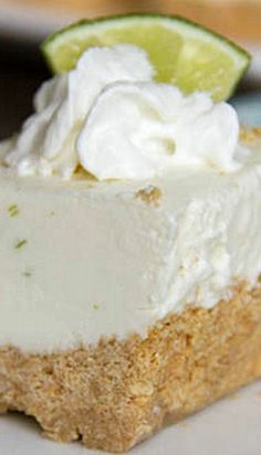 Frozen Key Lime Margarita Squares Recipe ~ Frozen creamy key lime squares with a hint of tequila – great no bake treat for the summer