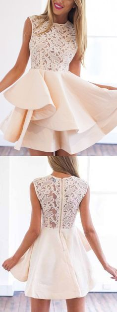 peach homecoming dress, short homecoming dress, 2017 homecoming dress, party dress, short prom dress