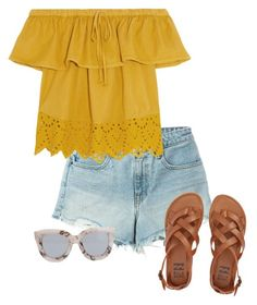 hello yellow by ahdorable on Polyvore featuring Madewell, T By Alexander Wang, Billabong and Quay