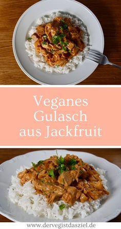 Veganes Gulasch aus Jackfruti, Gulasch, Jackfruit, vegan, glutenfrei
