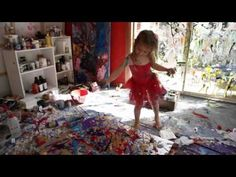 This 4 year old has a dream childhood. Not only is she wearing that cute tutu to paint in, look at that ROOM she gets to do it in! I don't know many parents that could tolerate a mess like this. However given that she's now got an exhibit in a Chelsea art studio in Manhattan and selling paintings for 20 grand, I bet a bunch of parents are now reconsidering the mess.