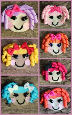 Lalaloopsy Inspired Hair Clip, Bow, Pin, Accessory, Ribbon Sculpture
