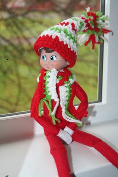 Ravelry: Elf on the shelf hat and scarf pattern pattern by lacey emery