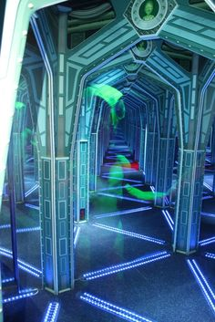 Encounters (in case of rain): New indoor attraction features laser obstacle course, alien-themed mirror maze and fast-paced Time Freak game suitable for all ages