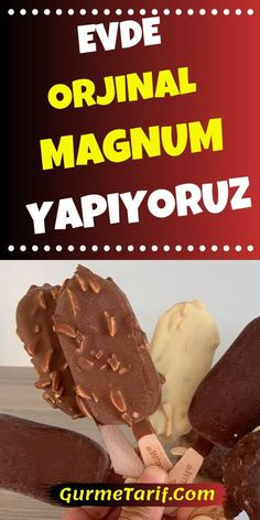 We Make Original Magnum Ice Cream at Home - Tatting Ideen 2019 Magnum Ice Cream, Ice Cream At Home, Viking Tattoo Design, Pastry Cake, Homemade Beauty Products, Desert Recipes, Delicious Desserts, Deserts, Food And Drink