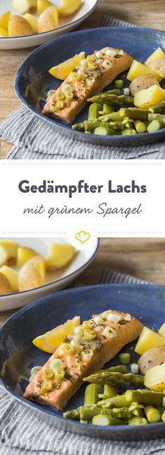 Schon wieder fettige Hollandaise?! Probier stattdessen lieber leichten, zarten Lachs mit grünem Spargel, Estragon und Kartoffeln
