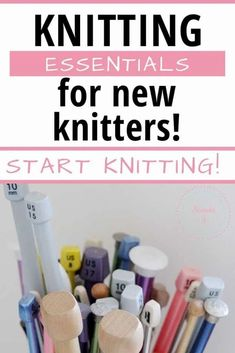 Start Knitting: Supplies You Need as a Beginner Knitter Beginner Knitting Patterns, Dishcloth Knitting Patterns, Knitting Kits, Knitting For Beginners, Knitting Designs, Knitting Needles, Crochet Stitches, Learn How To Knit, How To Start Knitting