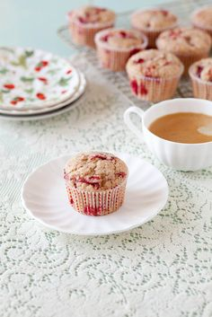 Roasted Strawberry Muffins by Annie's Eats: We're going strawberry picking soon, I'd love to try this roasted method!