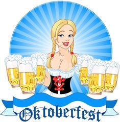 Vector illustration of Oktoberfest girl serving beer. Description from dreamstime.com. I searched for this on bing.com/images