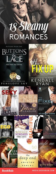 Steamy romance books worth reading this year. Great for fans of Fifty Shades of Grey.