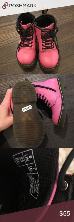 Kids Dr. Martens boots Pink boots in brand new condition... worn once! Dr. Martens Shoes Boots
