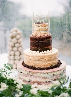 Wedding Cake, Momofuku Milk Bar; Photo: Heather Waraksa - New York Wedding http://caratsandcake.com/NikkiandTodd