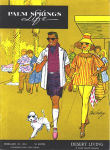 February 1961 ABOUT THE COVER: Cover by Earl Cordrey. So what's so unusual about a dog wearing sunglasses? Especially, if he's a poodle and lives in Palm Springs