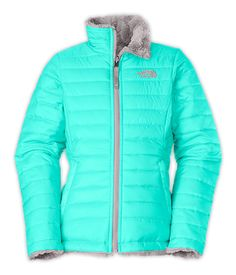 41f08734e1 The North Face Girls  Jackets  amp  Vests GIRLS  REVERSIBLE MOSSBUD SWIRL JACKET  North