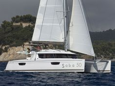 Saba 50 charter ✓ Live a unique sailing holiday experience hiring a Saba 50 in your preferred destination ✓ Book now with ABoatTime. Catamaran For Sale, Sailing Catamaran, Sailing Holidays, Boat Rental, Sail Away, 50th, Euro, News, Gallery