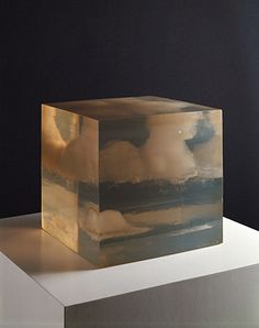 Cloud Box, 1966, Peter Alexander. Cast polyester resin. 9 5/8 x 9 5/8 x 9 5/8 in.