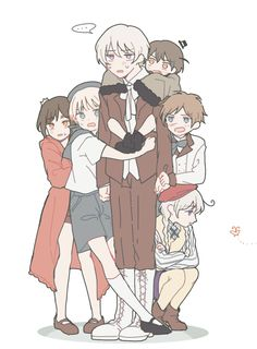 I hereby dub this Hetalia group Tinitalia, comprised of Hetalia's youngest nations. Hetalia Manga, Nordics Hetalia, Hetalia Funny, Hetalia Fanart, Anime Group Of Friends, List Of Sins, Manga Drawing Tutorials, Hetalia Axis Powers, Slayer Anime