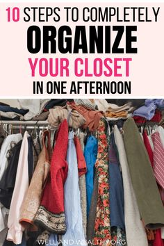 10 Easy Tips to Organize Your Closet Like a Pro! Want to learn how to completely sort out your closet and how to organize closet clutter? Then this Source by ideas organisation How To Organize Your Closet, Declutter Your Life, Organizing Your Home, Organising, Wardrobe Organisation, Organization Hacks, Organizing Ideas, Sorting Clothes, Wardrobe Closet