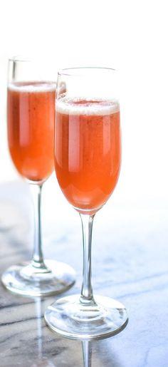 Strawberry Beermosas #strawberry #beermosa #cocktails #summer