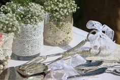Vintage-Vasen und Mason Jars Gläser für Hochzeit mieten | weddstyle