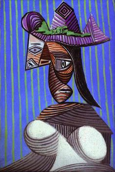 It's About Time: The Evolution of Pablo Picasso's Portraits of Women. Woman in a Stripped Hat, 1939.