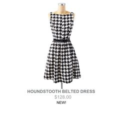 Houndstooth Jessica Simpson dress