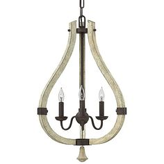 Curvaceous and classic, the Fredrick Ramond Middlefield Pendant embodies rustic-chic with solid wood and steel construction. Bent distressed wooden bars create a shapely silhouette that is ruggedly offset by the Iron Rust finish. The pear-shaped silhouette is echoed in the wooden finial that dangles from the bottom of the fixture.