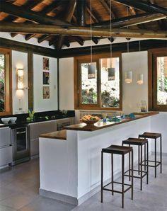 my future beach kitchen Kitchen Room Design, Home Decor Kitchen, Interior Design Kitchen, Home Kitchens, Indian Home Design, Indian Home Decor, Sweet Home, Village House Design, Traditional House