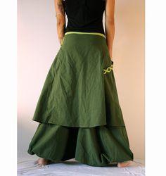 Harem Pants Skirt   Aladdin Trousers  Boho Afghani  Green by manaKAmana | Etsy