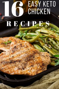 16 Quick & Easy Keto Chicken Recipes You Need To TryEven if you aren't on the keto diet, these great tasting keto chicken recipes are incredibly easy to throw together in 10 minutes or less! Keto Chicken, Healthy Chicken Recipes, Quick Recipes, Quick Easy Meals, Healthy Dinner Recipes, Low Carb Recipes, Breakfast Recipes, Entree Recipes, Healthy Dishes