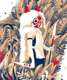 Princess Mononoke Poster design Source by looberry Studio Ghibli Art, Studio Ghibli Movies, Film Poster Design, Poster Designs, Totoro, Princess Mononoke Wallpaper, Mononoke Anime, Manga Anime, Anime Art