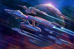Star Wars, Star Trek Tos, Vaisseau Star Trek, Star Trek Tattoo, Star Trek Wallpaper, Huawei Wallpapers, Starship Concept, Star Trek Images, Star Trek Characters