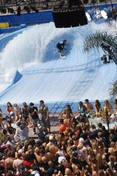 Mission Beach Wavehouse - the flow barrel is back up and running!  Repinned by Café Mono in Mission Beach, San Diego, CA