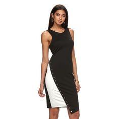 Women's Jennifer Lopez Asymmetrical Colorblock Sheath Dress